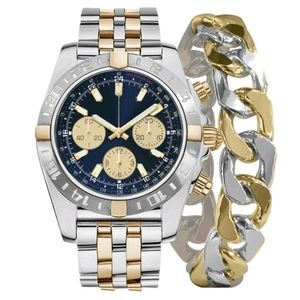 George Round Two Tone Watch with Bracelet